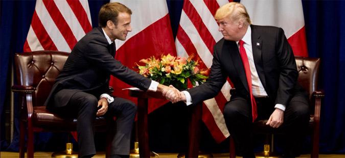 Трамп и Макрон разговараа за ситуацијата во Сирија и трговски прашања