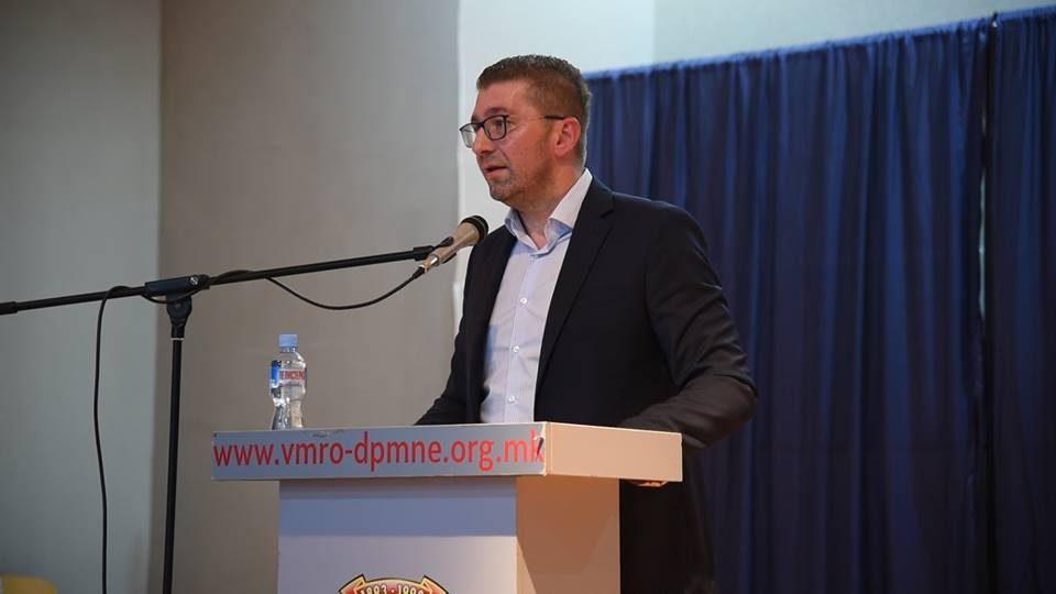 Мицкоски: Договорот со Грција значи промена на име и идентитет, а за оние од власта значи спас на нивните кариери