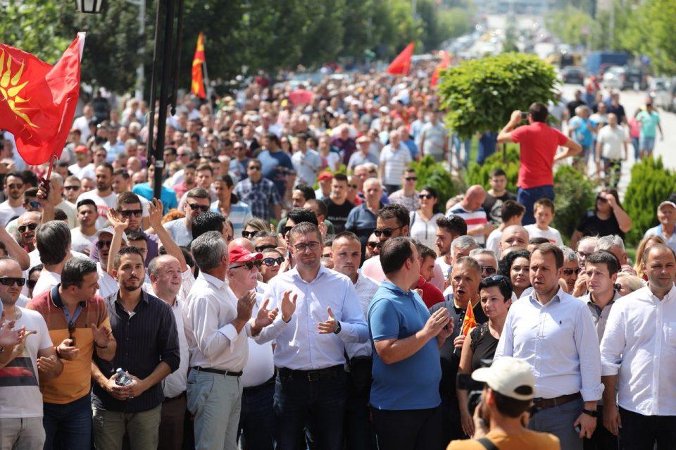 Протестен марш на ВМРО-ДПМНЕ денеска во Штип