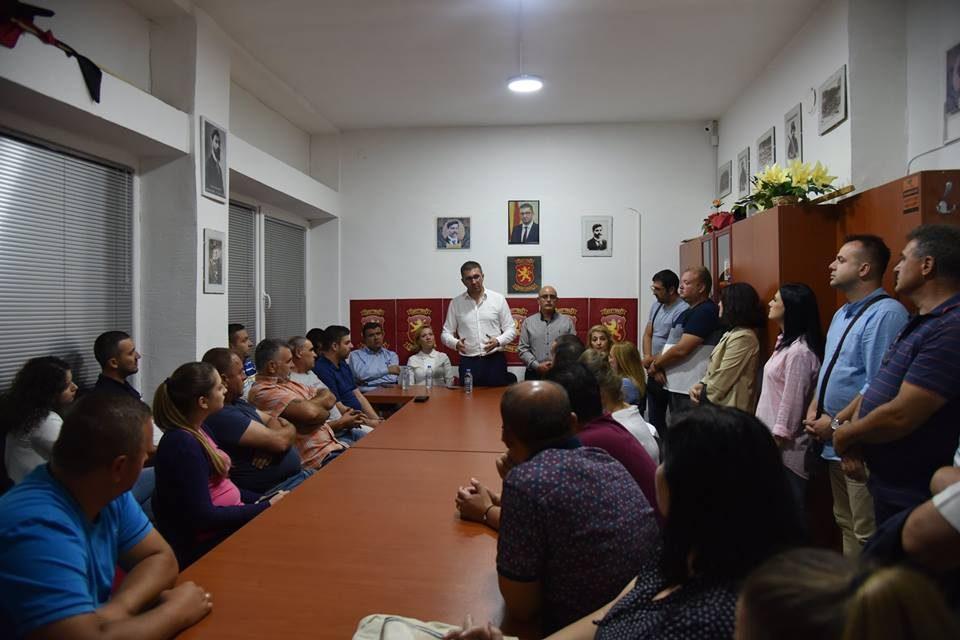 Мицкоски на средба со граѓаните во Свети Николе: Секогаш кога СДСМ е на власт Македонија губи по нешто и ја има се помалку