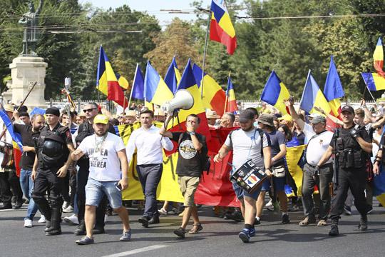 Протест во Молдавија за обединување со Романија
