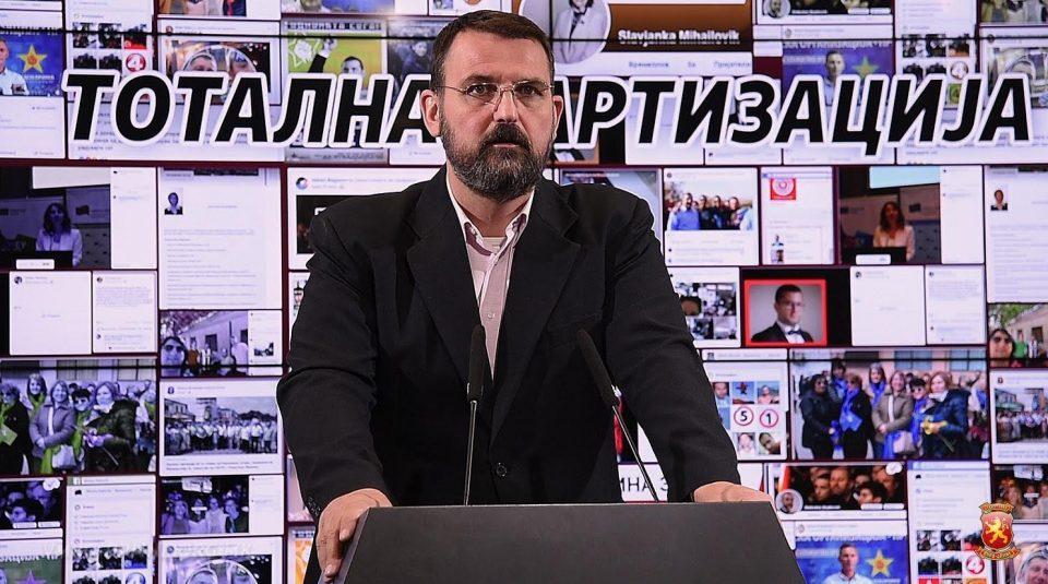 Стоилковски: Заев и неговиот картел спроведуваат антиреформи и партизација во јавната администрација