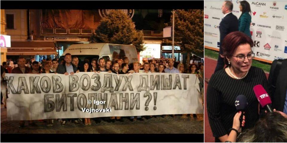 """Битола вечерва најзагаден град во Македонија: Гневни граѓани ја пречекаа градоначалничката на црвениот тепих на """"Браќа Манаки"""""""