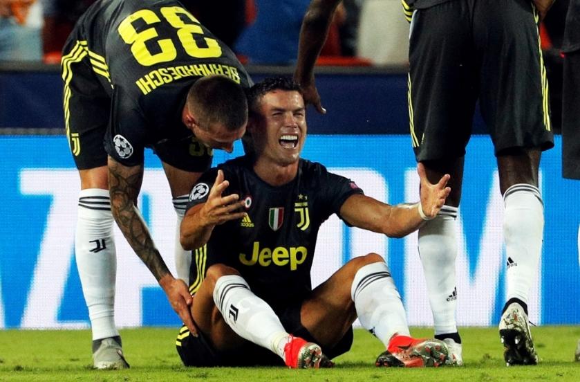 Позната казната на Роналдо за црвениот картон против Валенсија