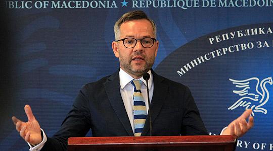 Германскиот министер за европски прашања во посета на Македонија