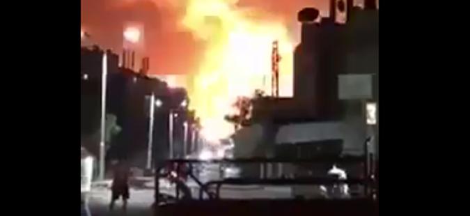 Серија силни експлозии во воена база на сириската армија