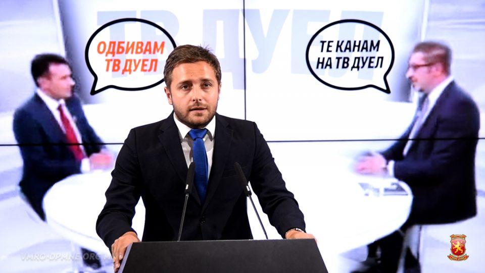 Арсовски: Заев е премиер со зајачко срце кој бега од дебата за референдумот
