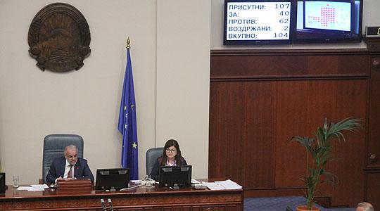 Собранието усвои повеќе закони по скратена постапка