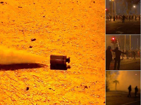 Шок бомби и солзавец: Инциденти на протестите во Солун (ВИДЕО)