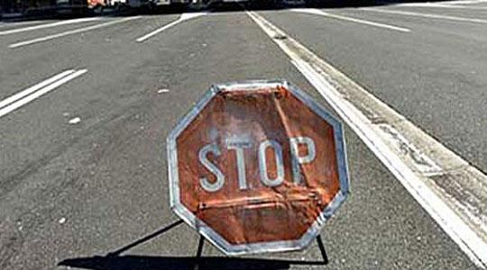 Во прекин сообраќајот на патот Удово-Валандово