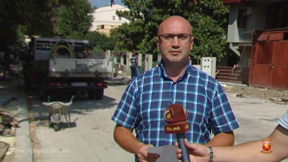 Робовалиев: Богдановиќ ги излажа центарци, улицата Капиштец ниту е реконстриурана ниту има тротоари