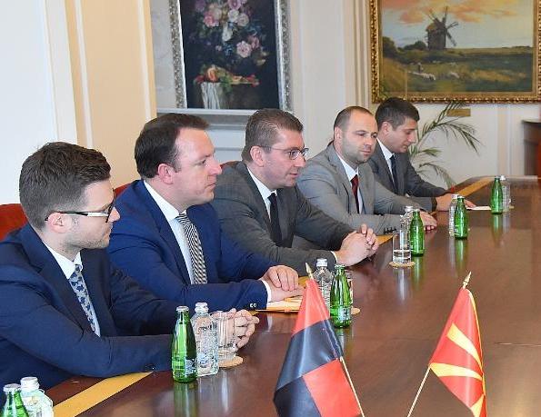 Мицкоски оствари средба со помошник американскиот државен секретар за Европа и Евроазија, Вес Мичел