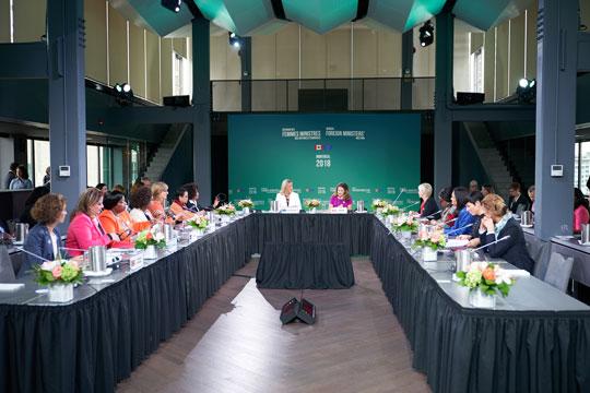 Прва официјална Средба на жени – министерки за надворешни работи