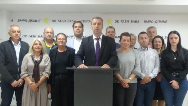 ВМРО-ДПМНЕ ОК Гази Бава: Борче Георгиевски треба да разбере дека Општина Гази Баба не е негова приватна сопственост