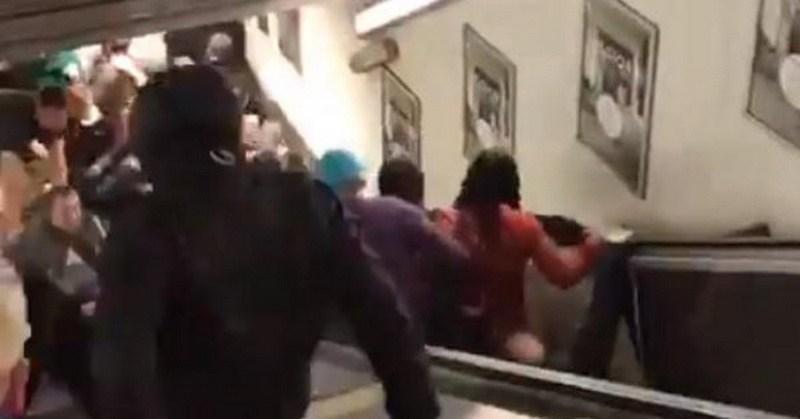 ВИДЕО: Хаос во римско метро – се расипа ескалатор, повредени фанови ЦСКА