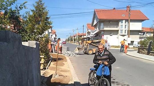 """Во Делчево се уредуваат тротоарски површини на улицата """"Питу Гули"""""""