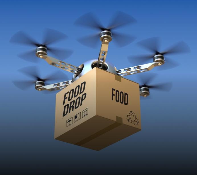 Брза достава на храна – со дрон!