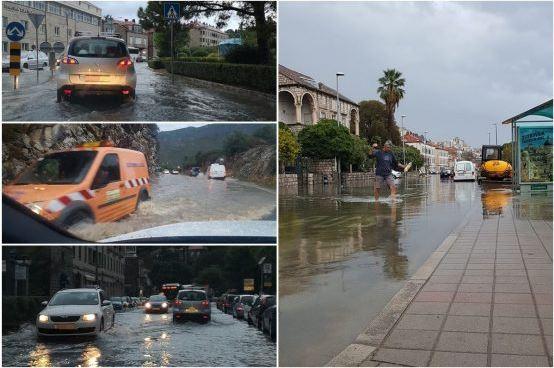 ФОТО+ВИДЕО: Силно невреме во Дубровник, градот под вода