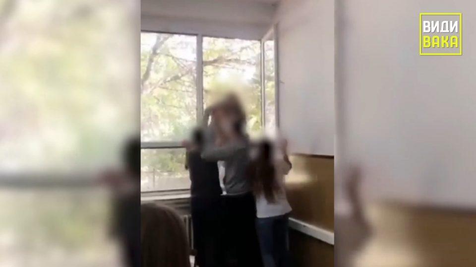 """ВИДЕО: Објавена снимка од """"играта"""" фрлање деца низ прозор во Аеродром"""