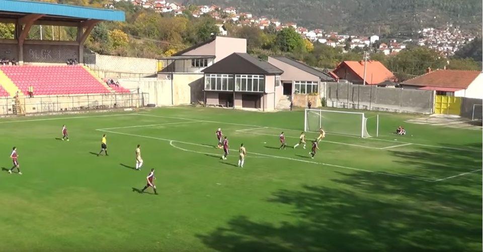 Гол од Кратово за најавни шпици: Голманот Иванов за малку ќе ја погодеше топката, но не успеа (ВИДЕО)
