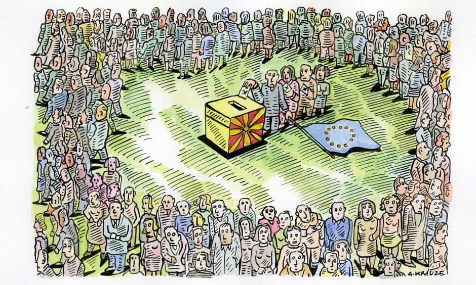 """Неуспешниот референдум во Македонија низ призмата на британски """"Гардијан"""" (ФОТО)"""