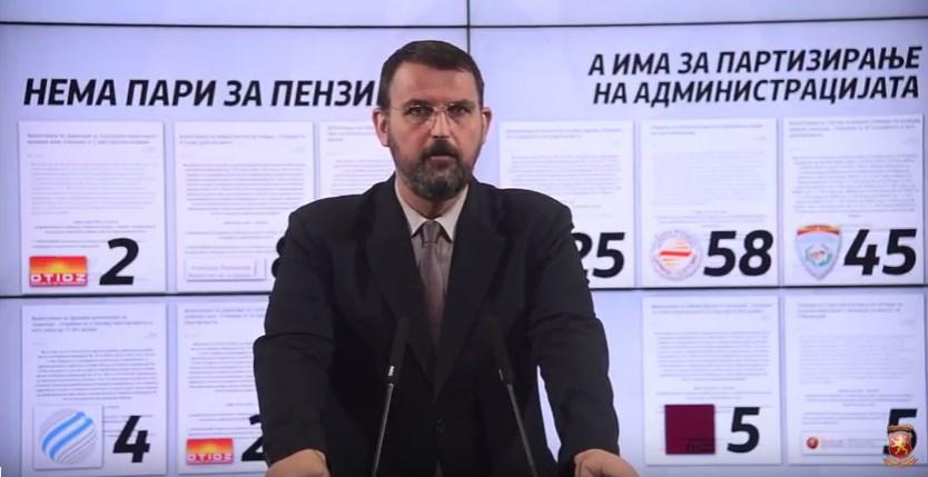 Стоилковски: Како е можно да нема пари за плати, пензии и придонеси, а да се распишуваат огласи за нови вработувања во администрацијата?