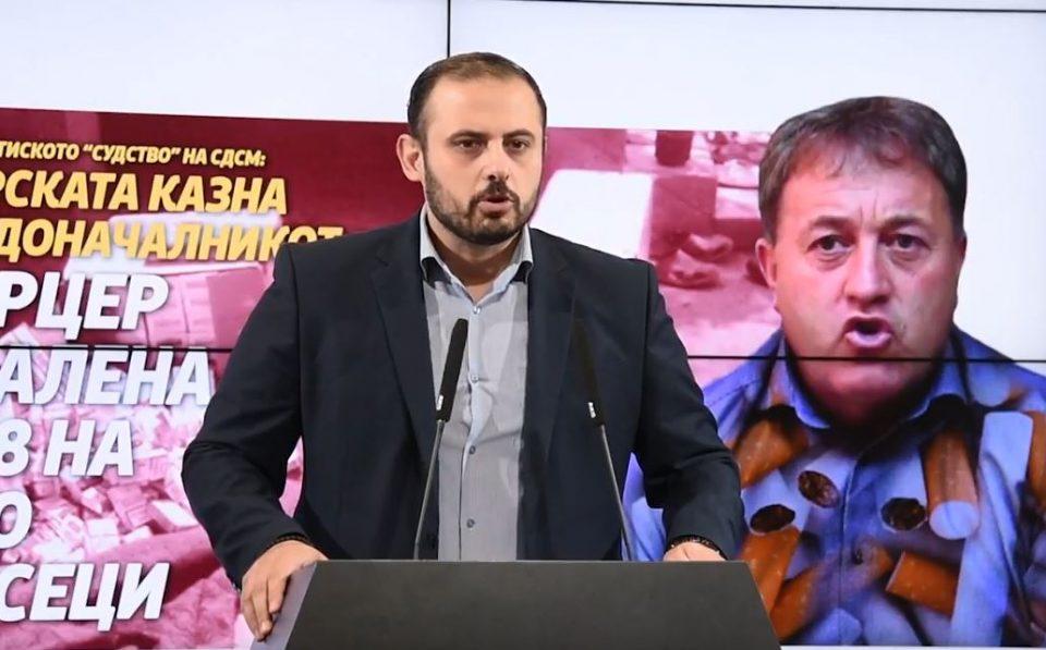Ѓоргиевски: Партиското судство на СДСМ ја намали казната од 18 на 6 месеци затвор за градоначалникот шверцер Боро Стојчев
