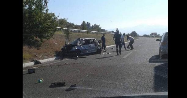 ФОТО: Тешка сообраќајка на патот Куманово- Скопје