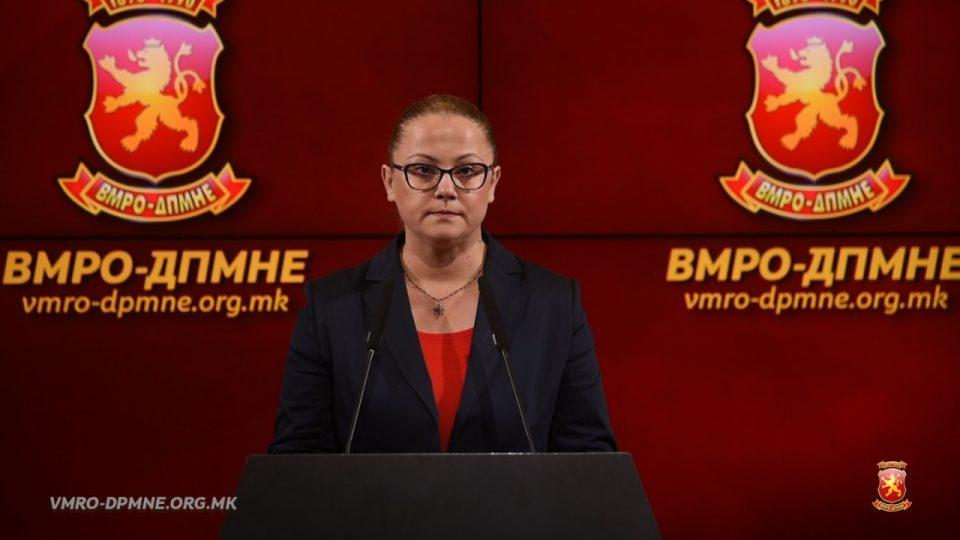Стојаноска: Вчерашниот настап на СЈО е уште една потврда дека Македонија не е веќе правна држава, не постојат ни закони, ни Устав