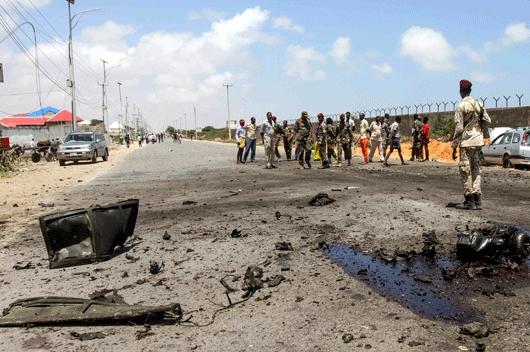Бомбашки напад врз колона возила на ЕУ во Сомалија