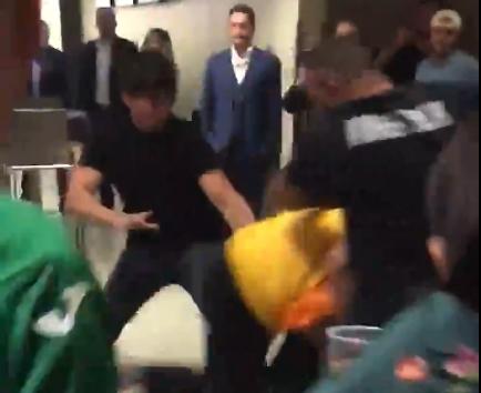 ВИДЕО: Брутална тепачка меѓу фановите на Хабиб и МекГрегор