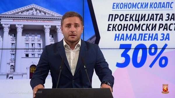Арсовски: Економијата во Република Македонија бележи пад за над 30% од проектираниот