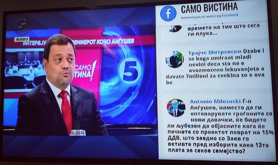 Милошоски со прашање до Анѓушев: Кога ќе почне проектот поврат на 15% ДДВ што го вети Заев