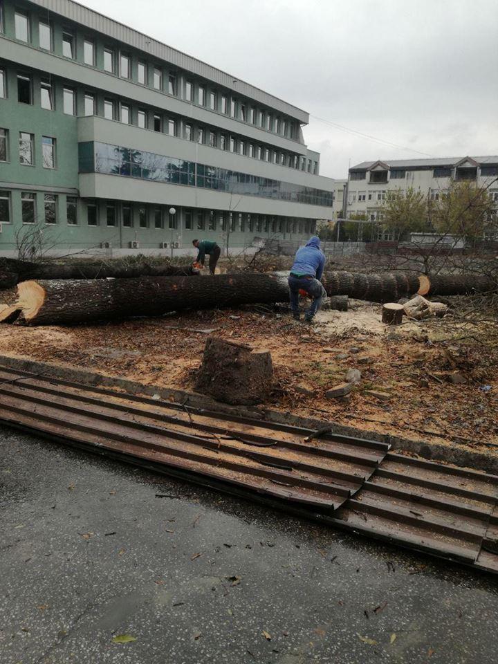 ФОТО: Наместо катна гаража, кал до колена на Клиника