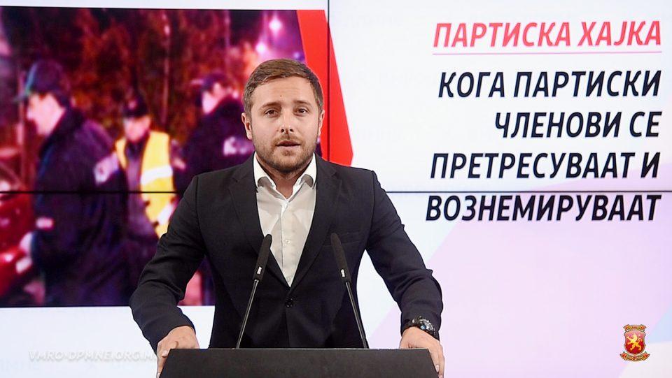 Арсовски: Она што се случуваше вчера околу седиштето на ВМРО-ДПМНЕ беше класична политичка хајка организирана од Зоран Заев и Оливер Спасовски