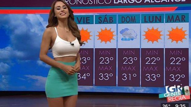 Најсексапилната водителка на временска прогноза без цензура: Го објави голиот џиновски задник во минијатурна танга (ФОТО)