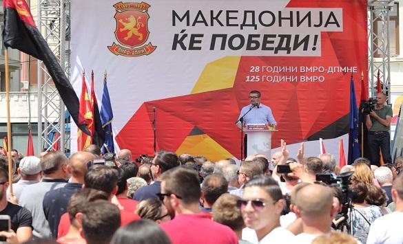 Младите од УМС на ВМРО-ДПМНЕ со масовна поддршка за Мицкоски (ФОТО)