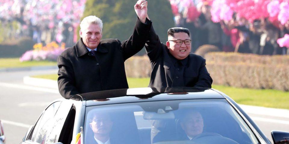 Претседателот на Куба се сретна со севернокорејскиот лидер Ким Џонг-ун