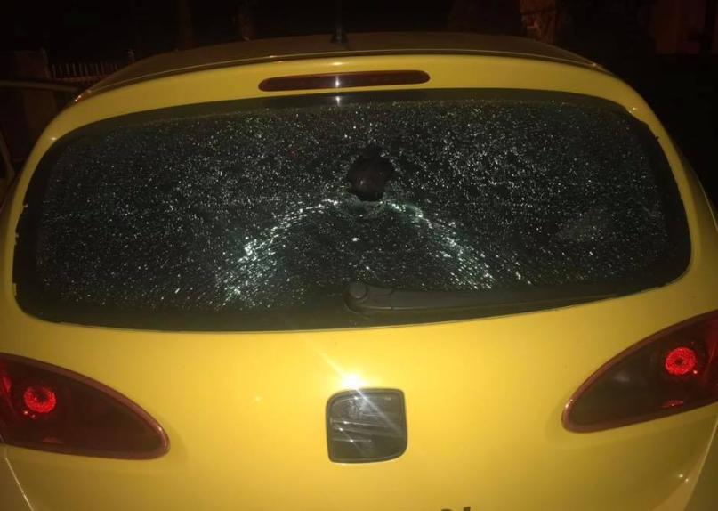 ФОТО: Демолирано возилото на портпаролот на ВМРО-ДПМНЕ, Димче Арсовски