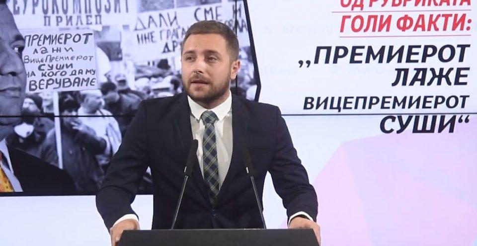 """Арсовски: Анѓушев и Заев ги завија во црно вработените на """"Еурокомпозит"""" од Прилеп"""