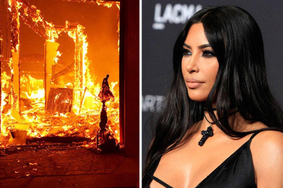 """""""Ми рекоа имам еден час да се качам на авион и да заминам"""": Ким Кардашијан и семејството поминува низ пекол во Калифорнија (ВИДЕО)"""