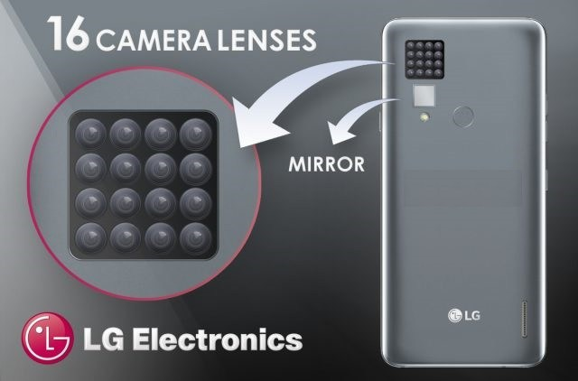ЛГ патентираше смартфон со 16 камери