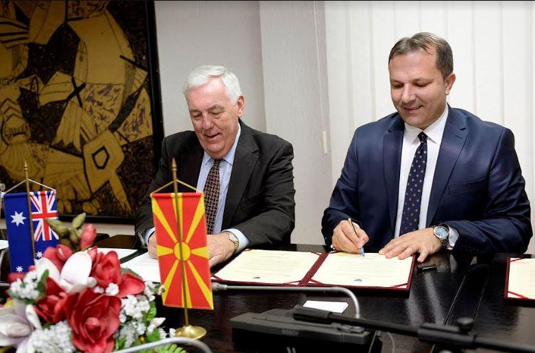 Потпишан Меморандум за соработка во борбата против тероризмот меѓу Македонија и Австралија