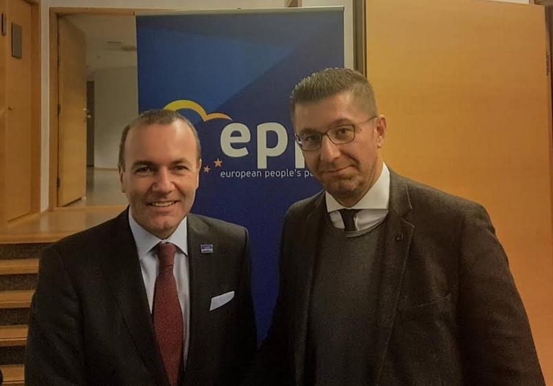 Мицкоски се сретна со Манфред Вебер, претседател на ЕНП во Европскиот Парламент