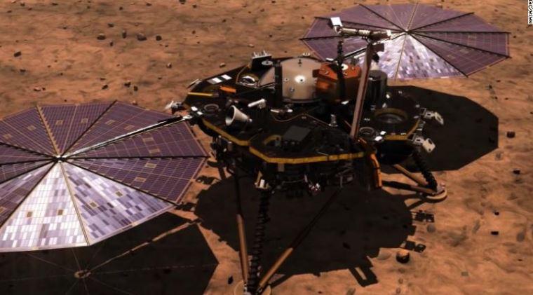НАСА: Инсајт леталото безбедно слета на Марс