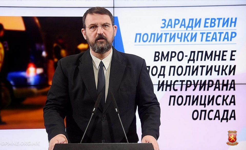 Стоилковски: ВМРО-ДПМНЕ не се согласува со заминувањето на Груевски, така се загрозуваат и другите лица кои се мета на прогон