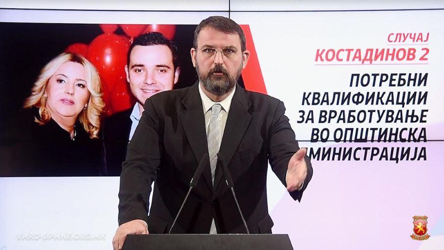 Стоилковски: Дали мајката на Костадин Костадинов која е вработена во струмичката администрација намерно ги доведувала своите фирми во неликвидна состојба фирми за лична добивка?