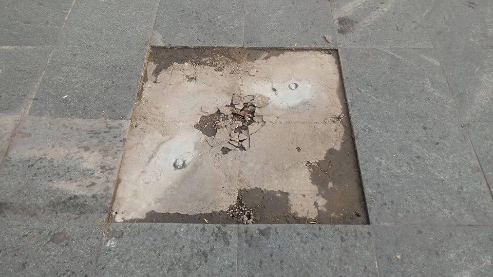 """Украдена """"ѕвездата"""" на Горан Пандев од плоштадот во Струмица"""