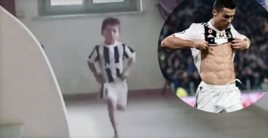 """ВИДЕО: Синот на Пјаниќ ги покажа """"стомачните"""" и прослави во стилот на Кристијано Роналдо"""