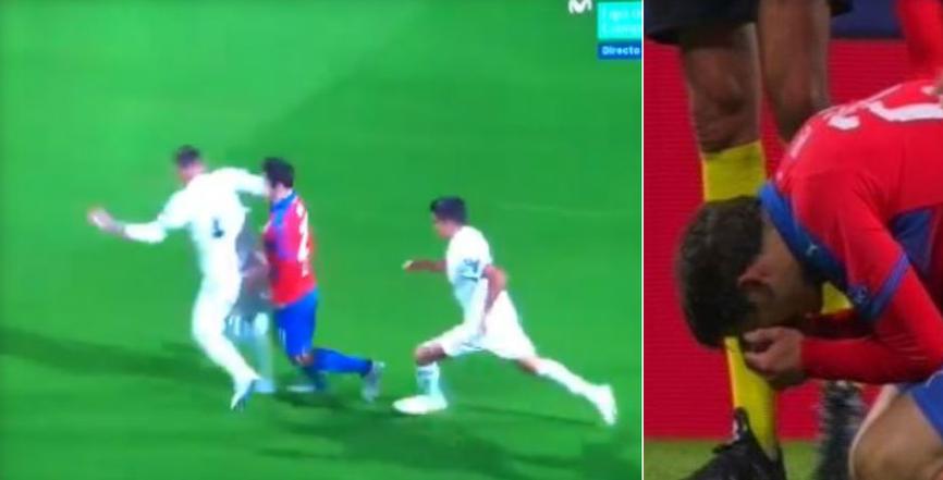 "ВИДЕО: Рамос му го ""скрши"" носот на играч на Плзен и мина без казна!"